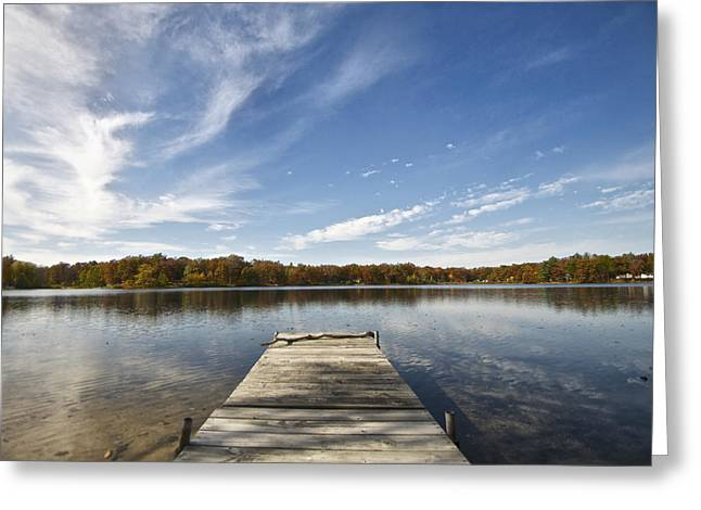 A View From The Dock Greeting Card