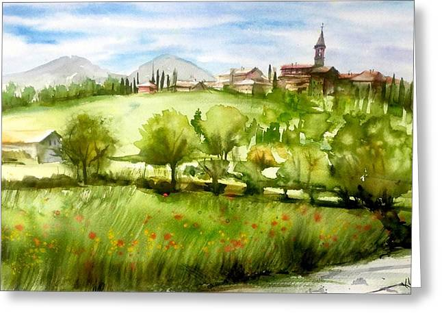 A View From Tuscany Greeting Card