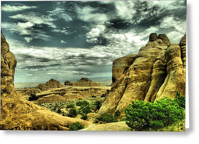 A View In Arches National Park Greeting Card