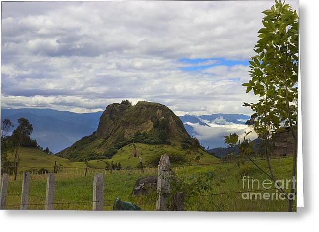 A View Near San Fernando, Ecuador Greeting Card by Al Bourassa