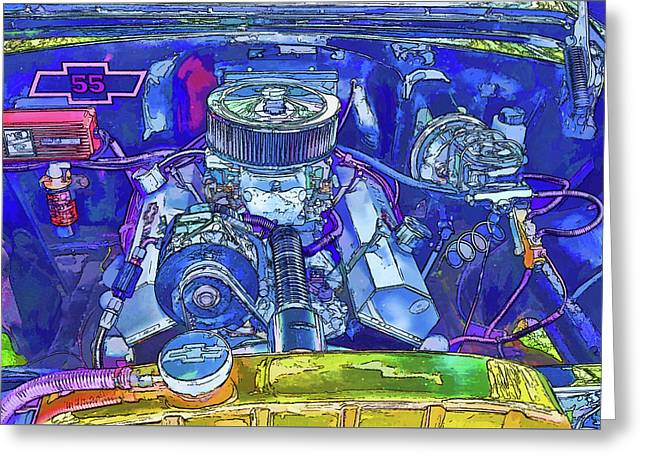 A View Of A Motor Car Engine Greeting Card by Lanjee Chee