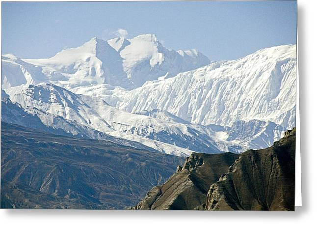 Annapurna Greeting Cards - A View Of Annapurna I From The North Greeting Card by Stephen Sharnoff