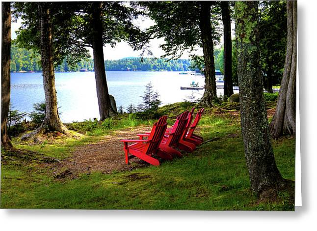 Greeting Card featuring the photograph A View Of Big Moose Lake by David Patterson