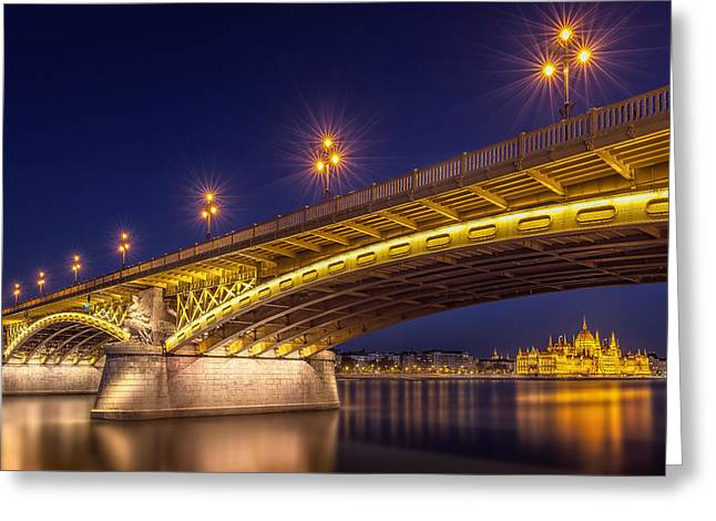 A View Of Budapest Greeting Card by Thomas D M?rkeberg