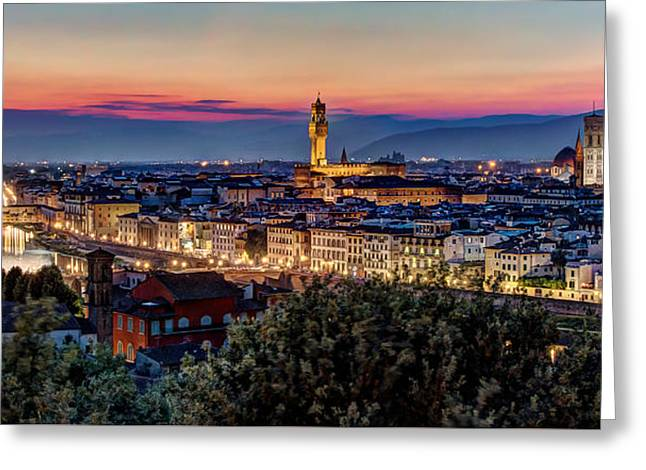 A View Of Florence Greeting Card