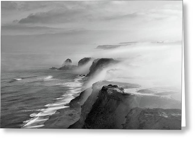 Greeting Card featuring the photograph A View Of Gods by Jorge Maia