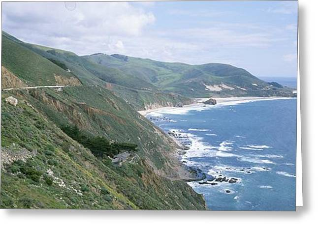 Big Sur California Greeting Cards - A View Of Highway One And The Rugged Greeting Card by Rich Reid