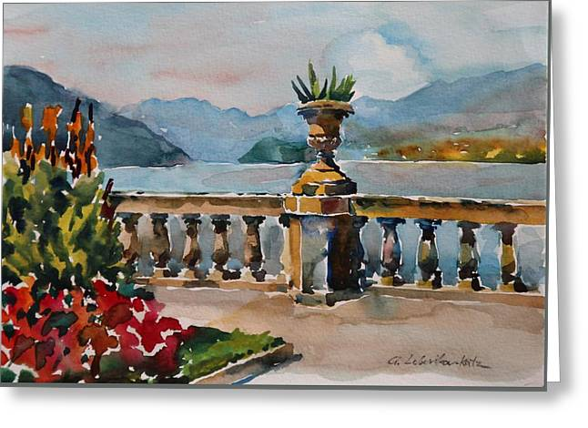 A View Of Lago Di Como At Bellagio Greeting Card