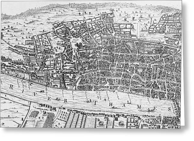 A View Of London In The Sixteenth Century Greeting Card