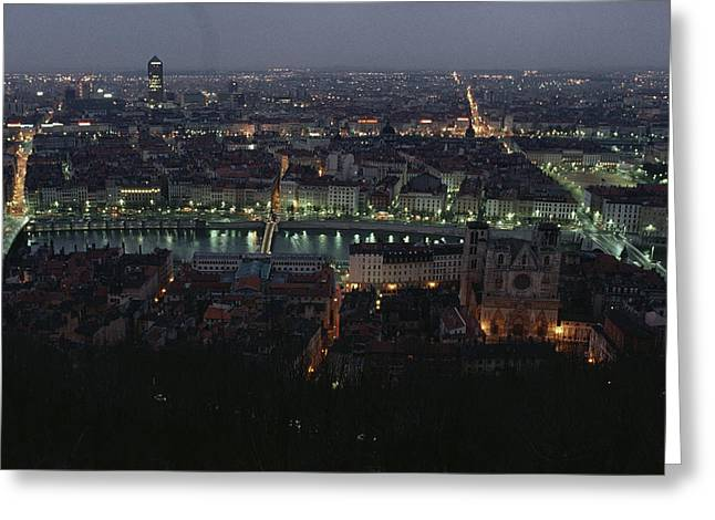 River Scenes Greeting Cards - A View Of Lyon Between The Pont De La Greeting Card by James L. Stanfield