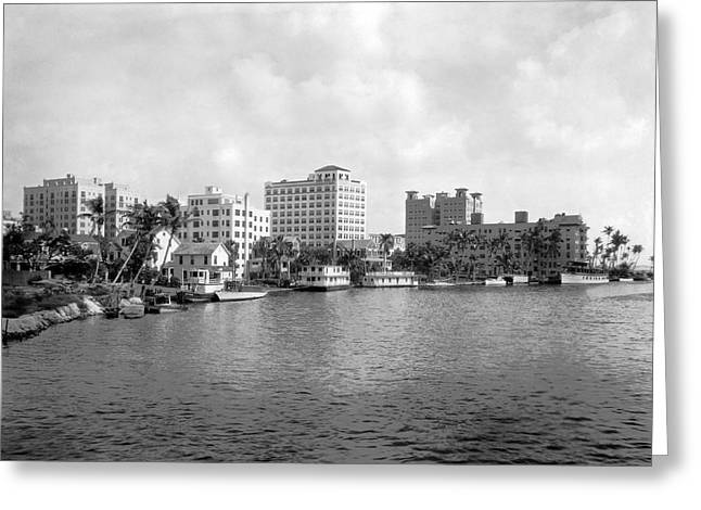 A View Of Miami Greeting Card