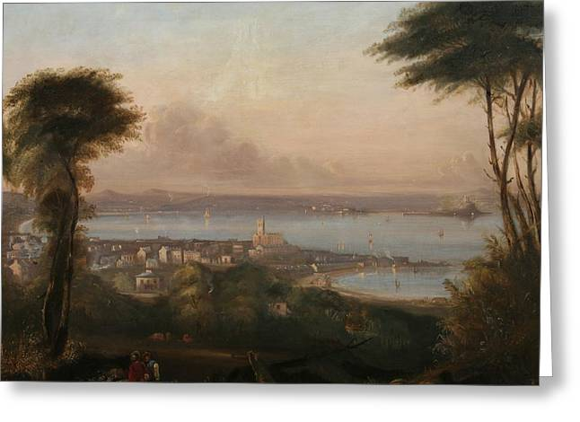 A View Of Penzance Greeting Card by Richard Thomas Pentreath
