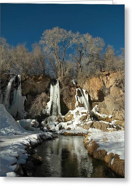 A View Of Rifle Falls Greeting Card by Jeff Swan