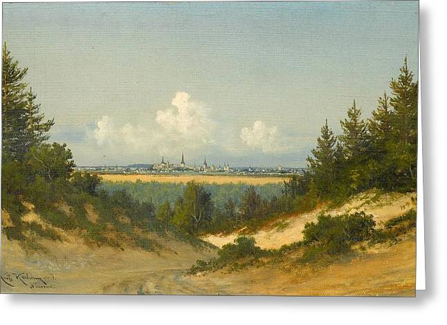 A View Of Tallinn From Nomme Greeting Card by Konstantin Karlsonn