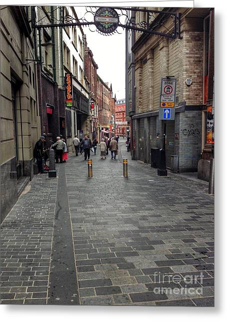 A View Of The Cavern Club Greeting Card