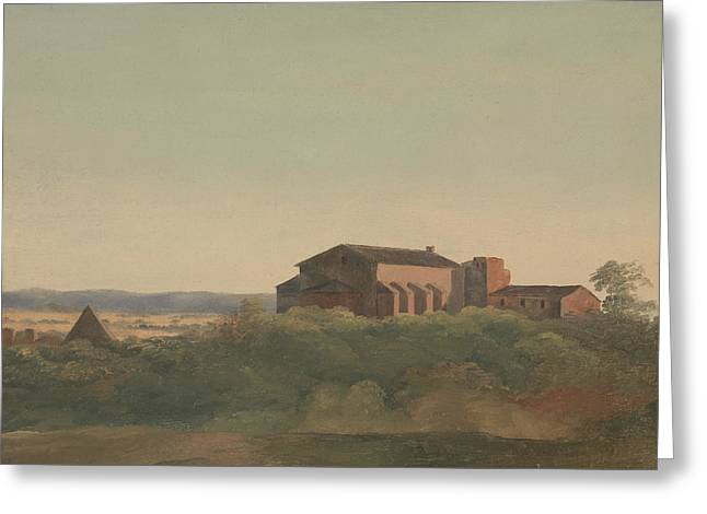 A View Of The Church Of S. Sabina And The Pyramid Of Cestius, Rome Greeting Card