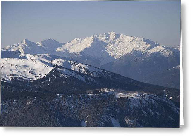 Solar Phenomena Greeting Cards - A View Of The Mountains Greeting Card by Taylor S. Kennedy