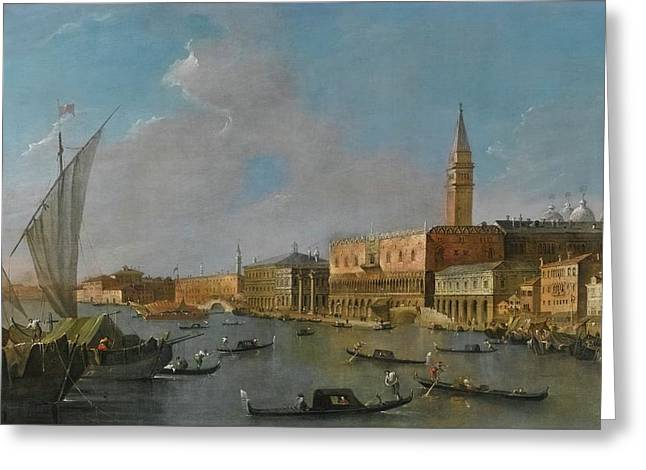 A View Of The Palazzo Ducale  Greeting Card