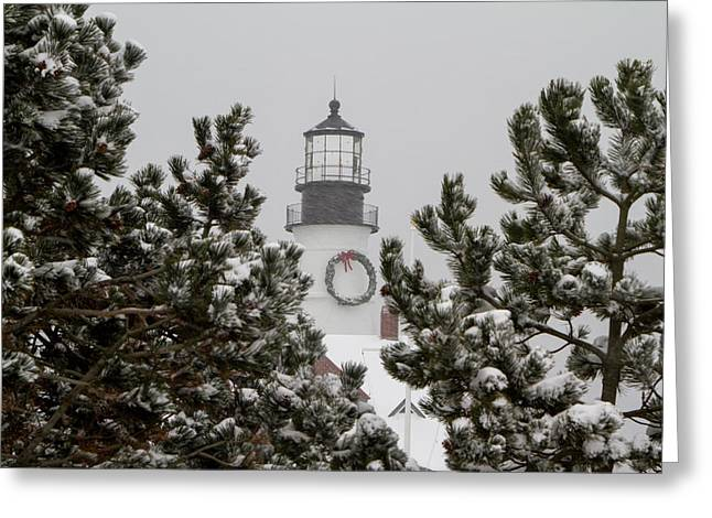 Greeting Card featuring the photograph A View Of The Portland Head Light by Darryl Hendricks