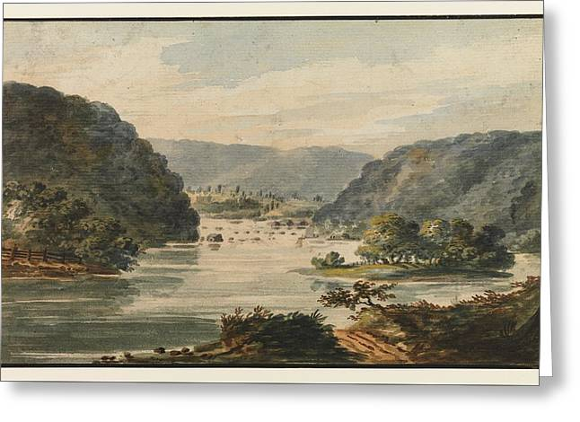A View Of The Potomac At Harpers Ferry Greeting Card
