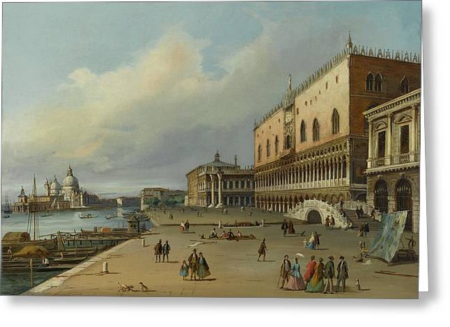 A View Of The Riva Degli Schiavoni Greeting Card by MotionAge Designs