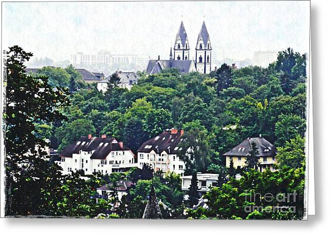A View Of Wiesbaden Greeting Card by Sarah Loft