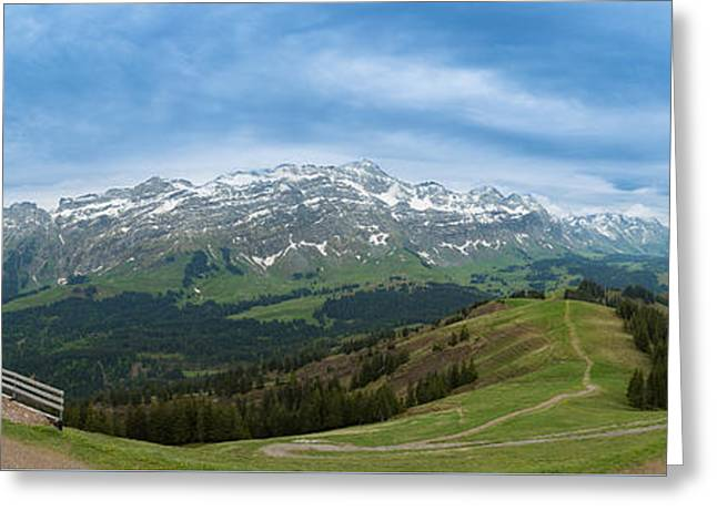 A View To The Saentis, Switzerland Greeting Card