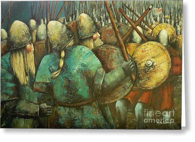 A Viking Skirmish Greeting Card
