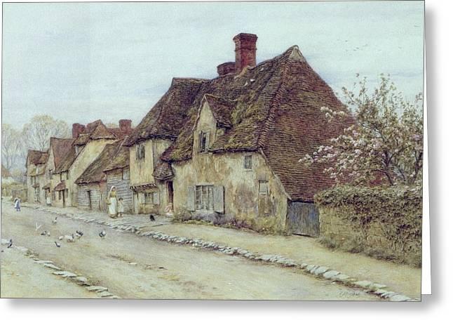 A Village Street Kent Greeting Card