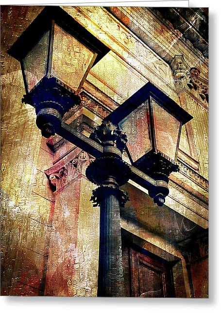 A Vintage Lampost Greeting Card