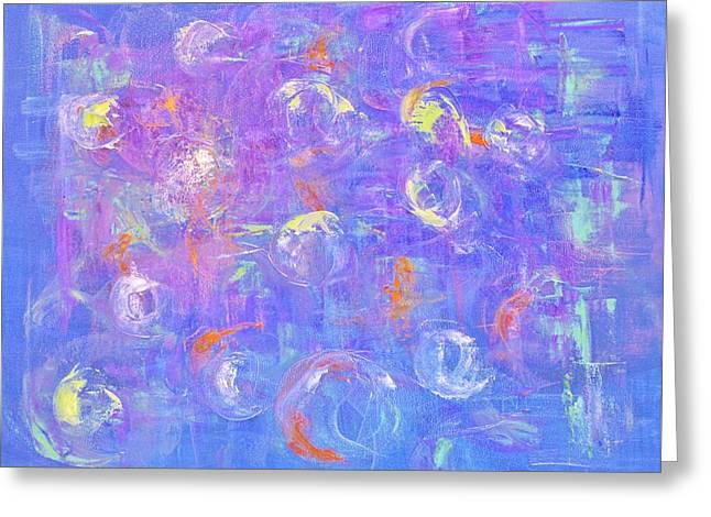 A Vision In Blue Greeting Card by Marla McPherson