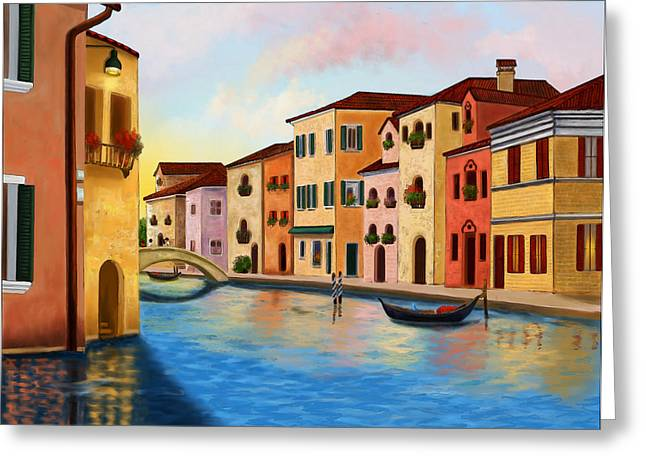 A Vision Of Venice Greeting Card