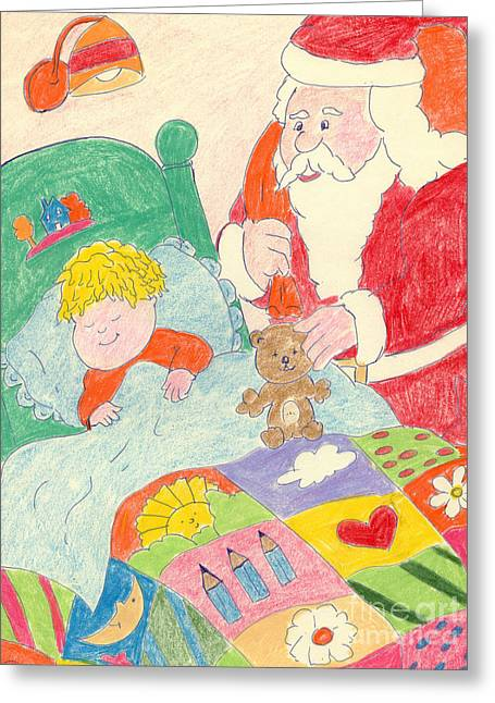 A Visit From Santa Greeting Card