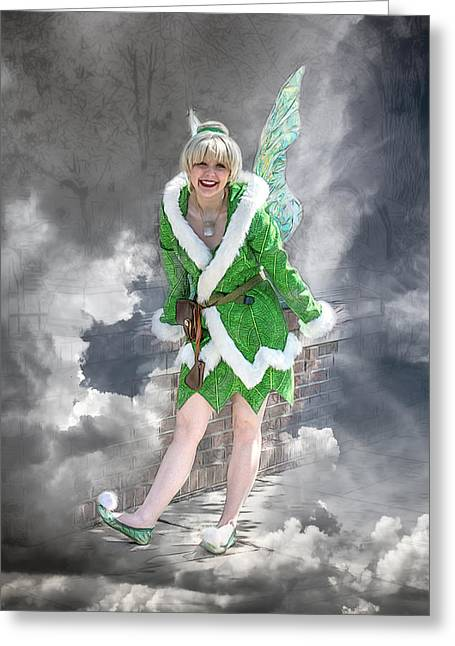A Visit From The Tinker Fairy Greeting Card by John Haldane