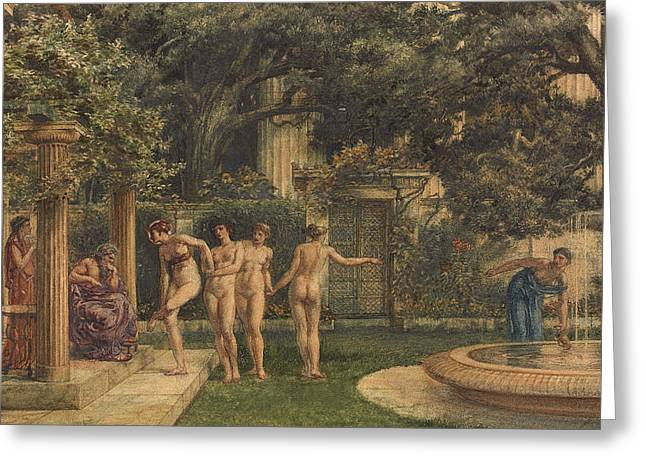 A Visit To Aesculapius Greeting Card by Sir Edward John Poynter