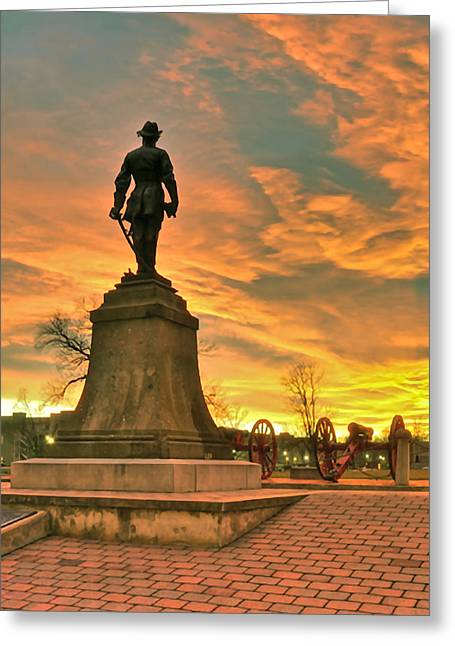 A Vmi Sunset Greeting Card