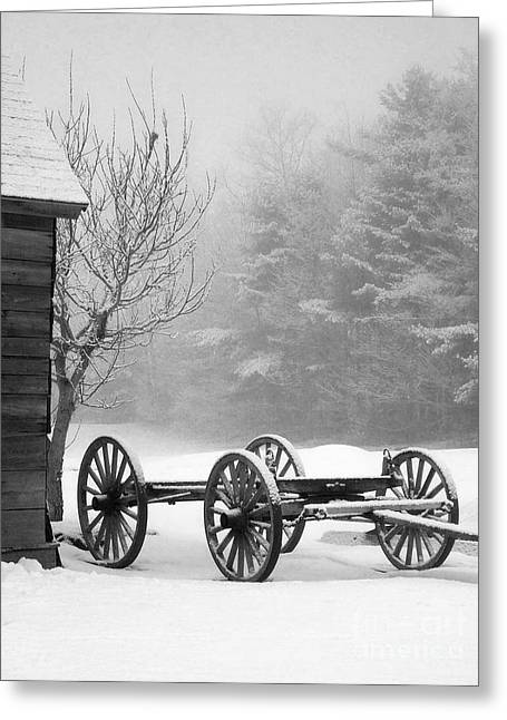 A Wagon In Winter Greeting Card