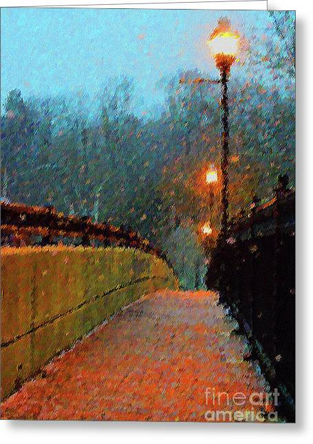 A Walk Along The River Greeting Card