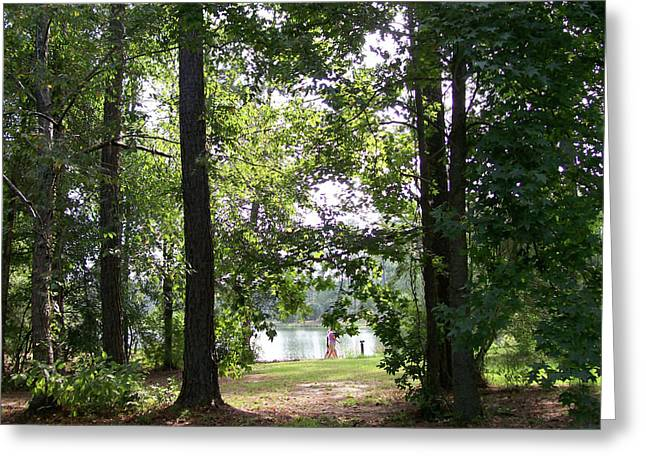 Greeting Card featuring the photograph A Walk By The Lake by Diane Ferguson