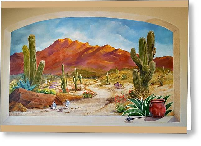 A walk in the desert wall mural painting by marilyn smith for Desert wall mural