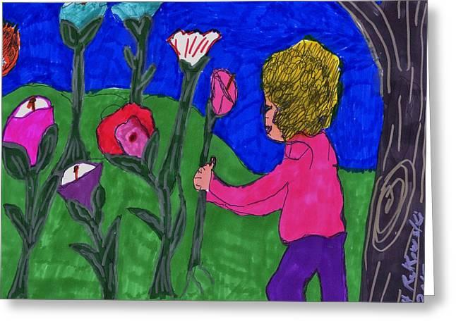A Walk In The Garden Greeting Card