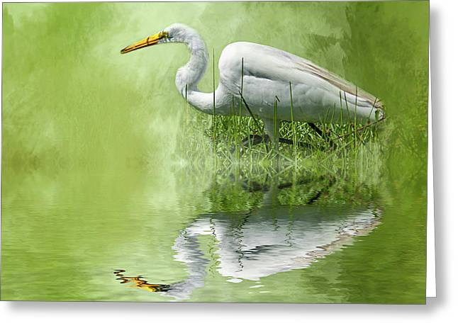 A Walk In The Marsh Greeting Card by Cyndy Doty