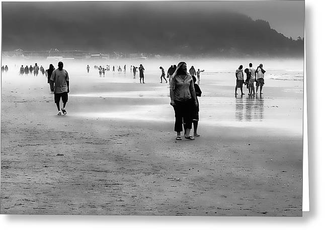 A Walk In The Mist Greeting Card by David Patterson