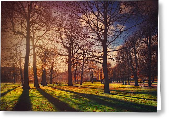 A Walk In The Park Greeting Card by Carol Japp