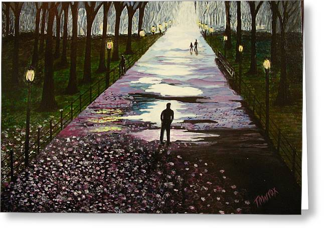 A Walk In The Park Greeting Card by Tim Mattox
