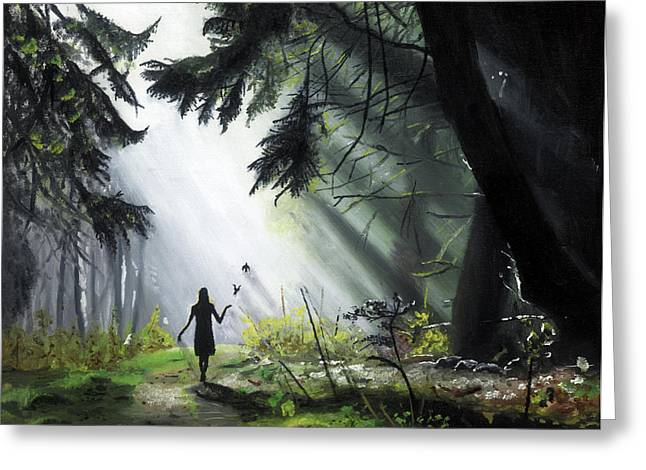 A Walk In The Woods Greeting Card by Chris Wiese