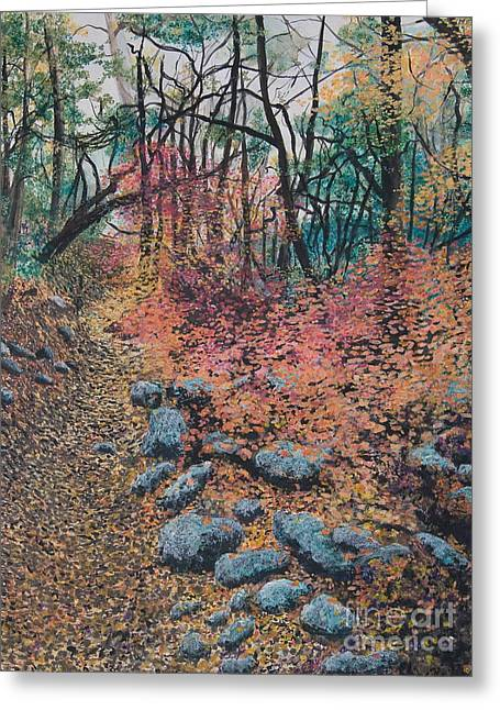A Walk In The Woods Greeting Card by Lucinda  Hansen