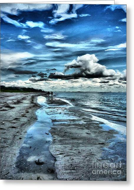 A Walk On The Beach Greeting Card by Jeff Breiman