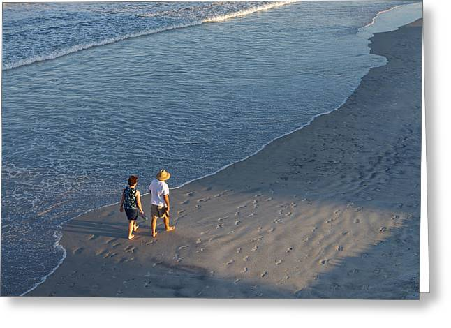 A Walk On The Beach Greeting Card