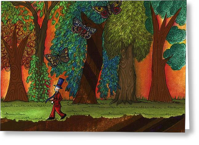 A Walk Through The Forest Greeting Card